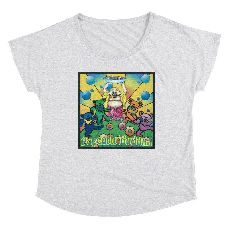 Grateful Popcorn Bears (Great for making your own tie-dye!) Women's Scoop Neck by Popcorn Buddha Merchandise