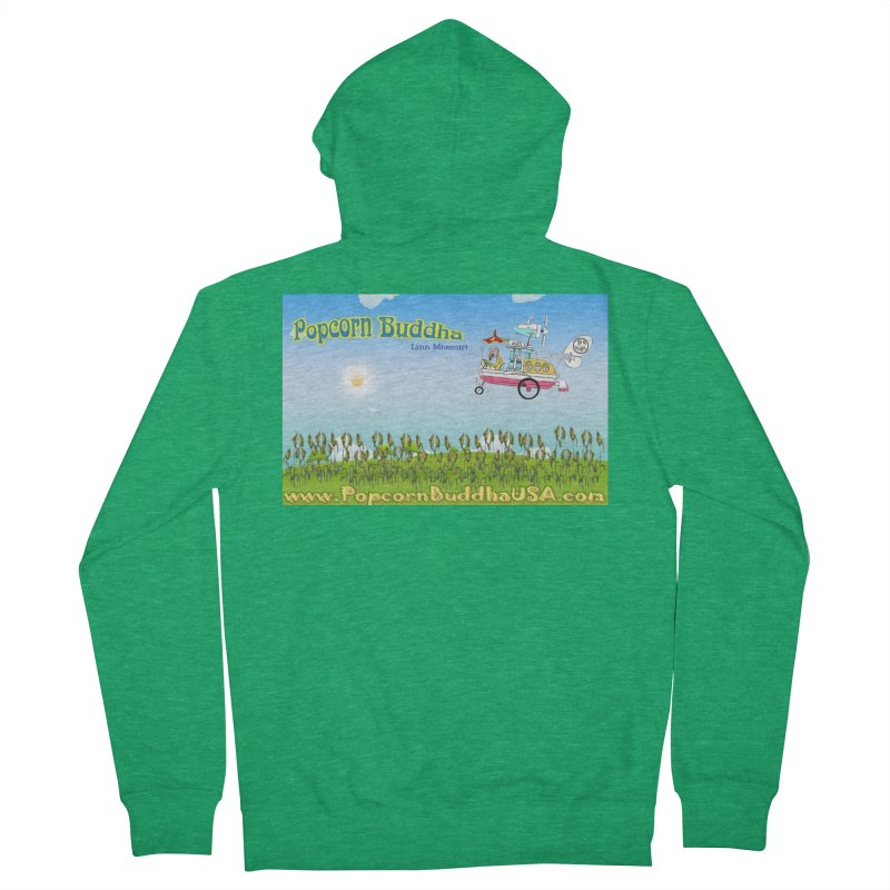 Cornfield Contraption Men's Zip-Up Hoody by Popcorn Buddha Merchandise