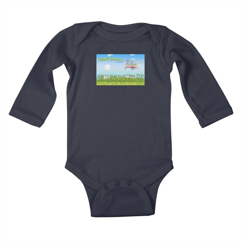 Cornfield Contraption Kids Baby Longsleeve Bodysuit by Popcorn Buddha Merchandise