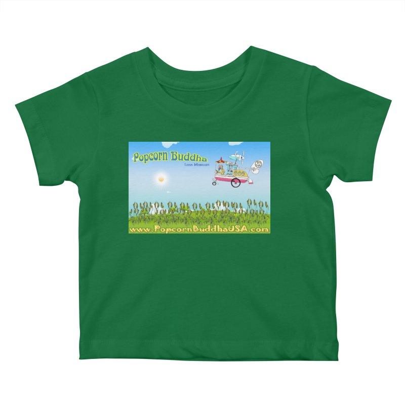 Cornfield Contraption Kids Baby T-Shirt by Popcorn Buddha Merchandise
