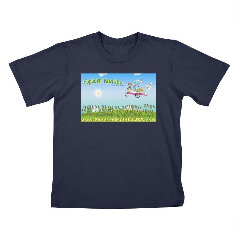 Cornfield Contraption Kids T-Shirt by Popcorn Buddha Merchandise