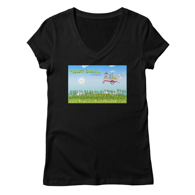 Cornfield Contraption Women's V-Neck by Popcorn Buddha Merchandise