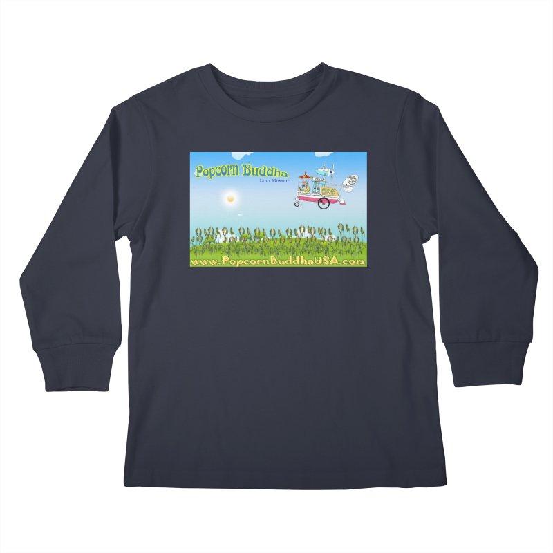 Cornfield Contraption Kids Longsleeve T-Shirt by Popcorn Buddha Merchandise