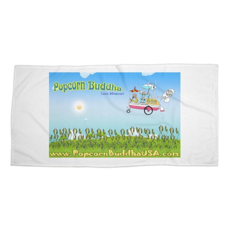Cornfield Contraption Accessories Beach Towel by Popcorn Buddha Merchandise