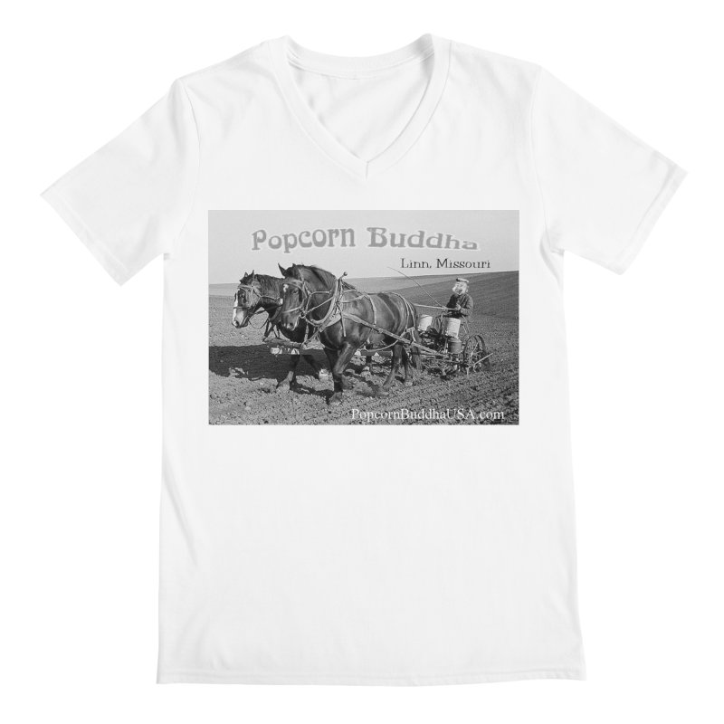 early farmer 1 Men's V-Neck by Popcorn Buddha Merchandise