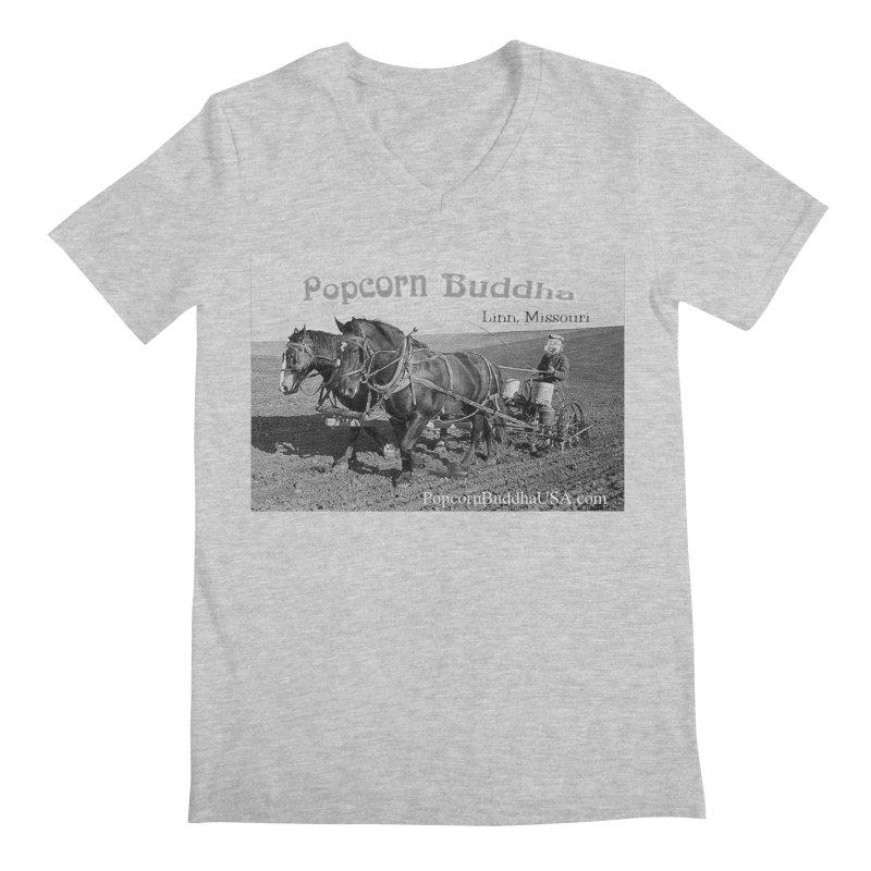 early farmer 1 Men's V-Neck by Popcorn Buddha Merchandise