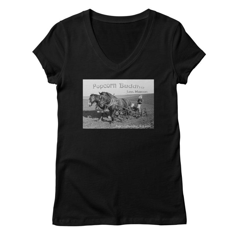 early farmer 1 Women's V-Neck by Popcorn Buddha Merchandise