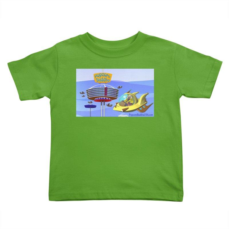 Futuristic Kids Toddler T-Shirt by Popcorn Buddha Merchandise