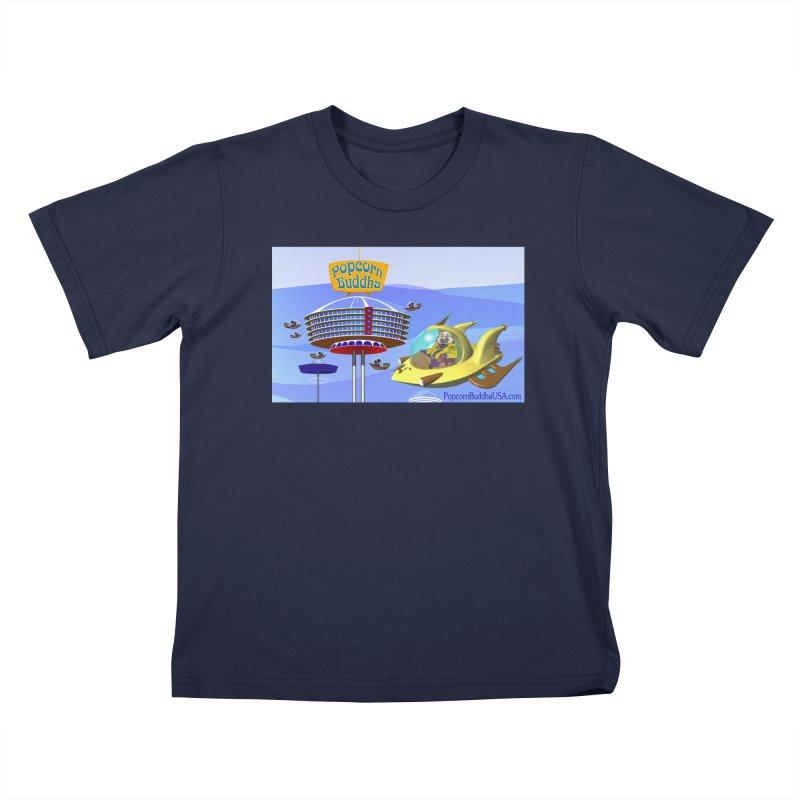 Futuristic Kids T-Shirt by Popcorn Buddha Merchandise