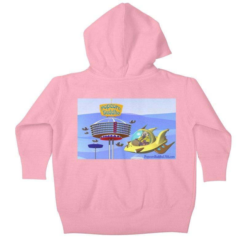 Futuristic Kids Baby Zip-Up Hoody by Popcorn Buddha Merchandise