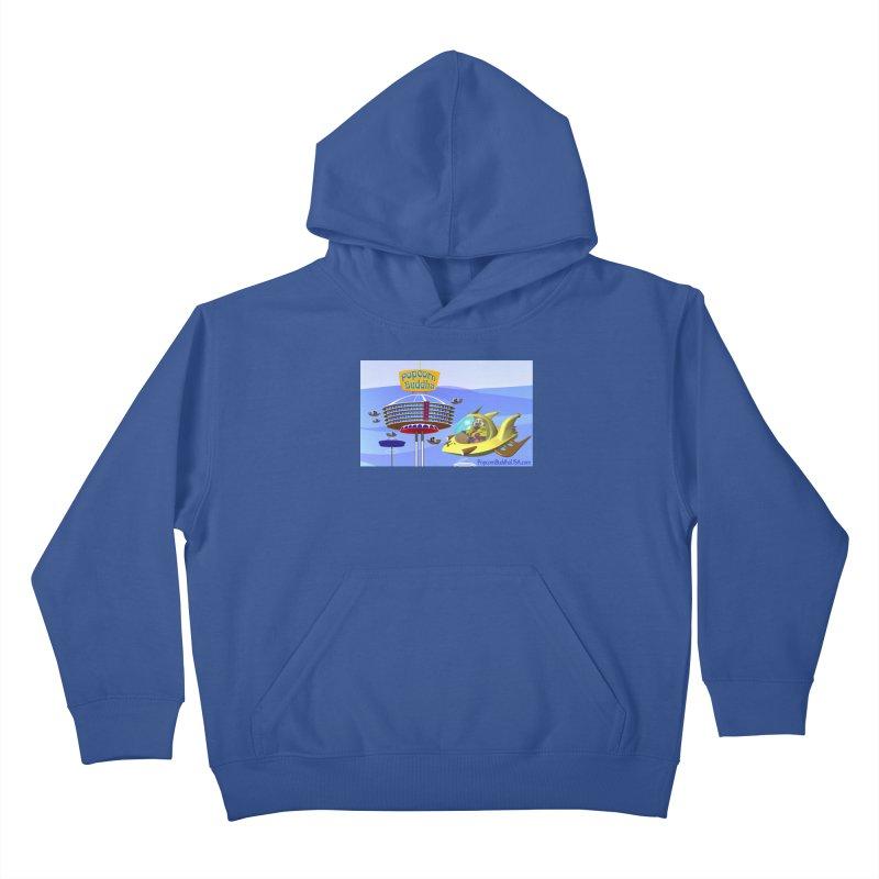 Futuristic Kids Pullover Hoody by Popcorn Buddha Merchandise
