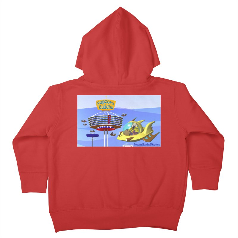 Futuristic Kids Toddler Zip-Up Hoody by Popcorn Buddha Merchandise