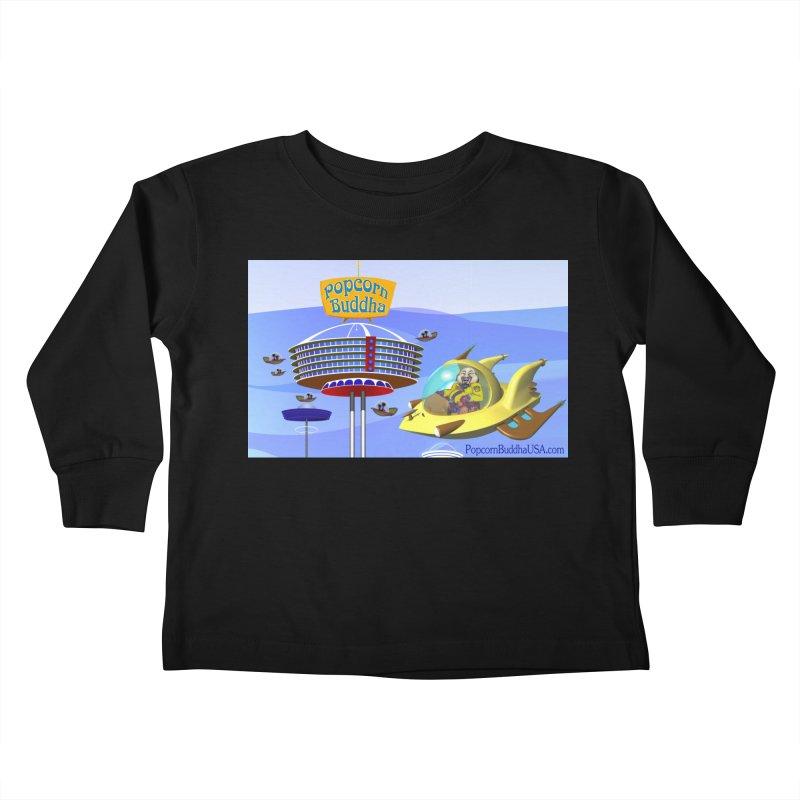Futuristic Kids Toddler Longsleeve T-Shirt by Popcorn Buddha Merchandise
