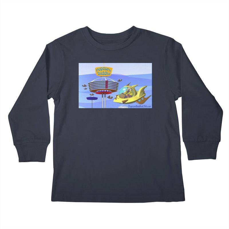 Futuristic Kids Longsleeve T-Shirt by Popcorn Buddha Merchandise