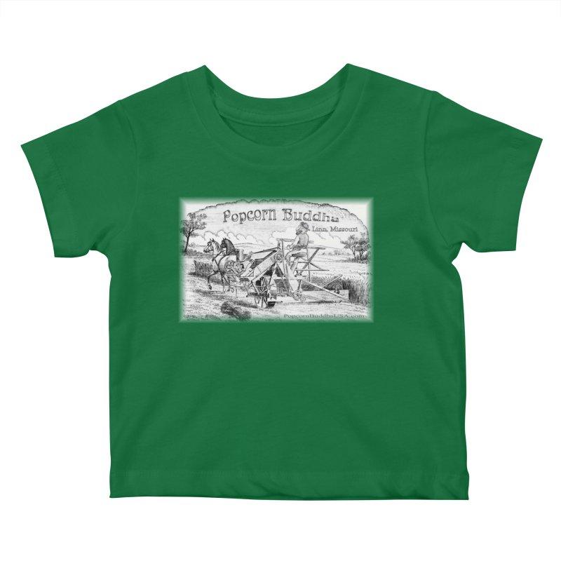 Bucolic Serenity Kids Baby T-Shirt by Popcorn Buddha Merchandise