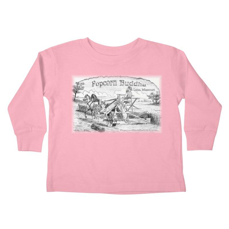 Bucolic Serenity Kids Toddler Longsleeve T-Shirt by Popcorn Buddha Merchandise