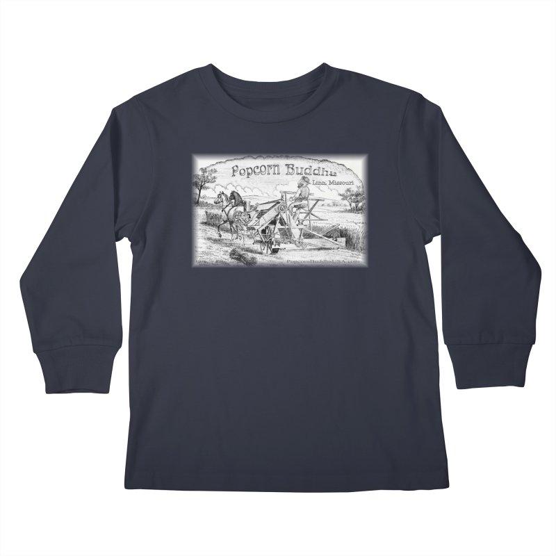 Bucolic Serenity Kids Longsleeve T-Shirt by Popcorn Buddha Merchandise