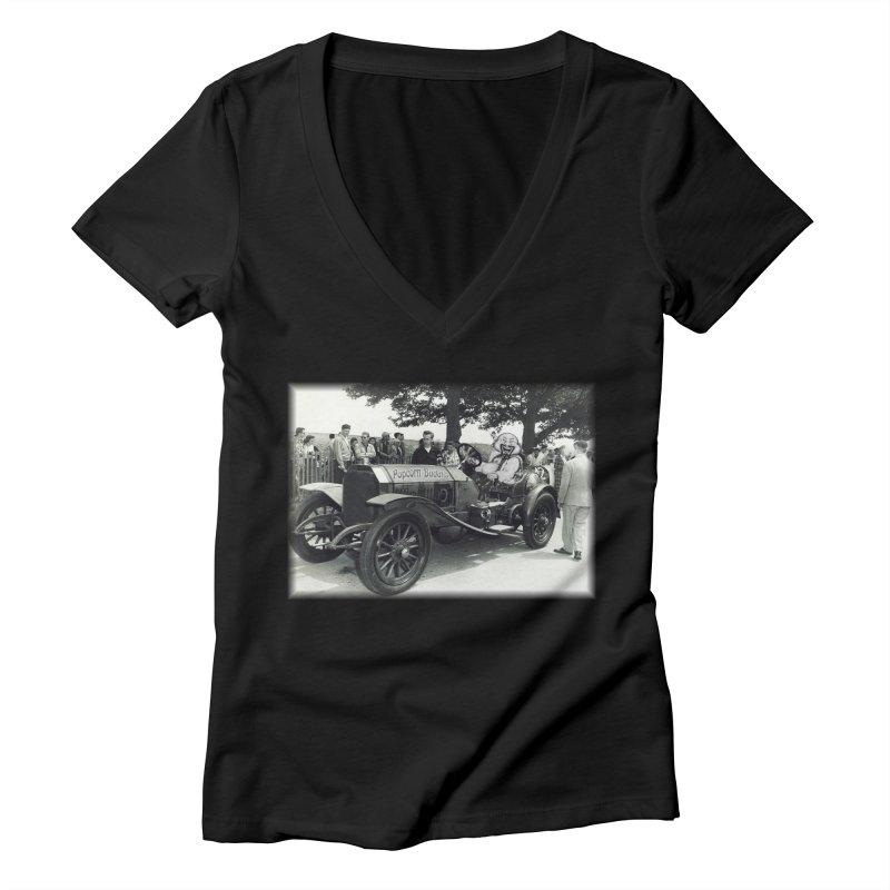 Classic Racecar Women's V-Neck by Popcorn Buddha Merchandise
