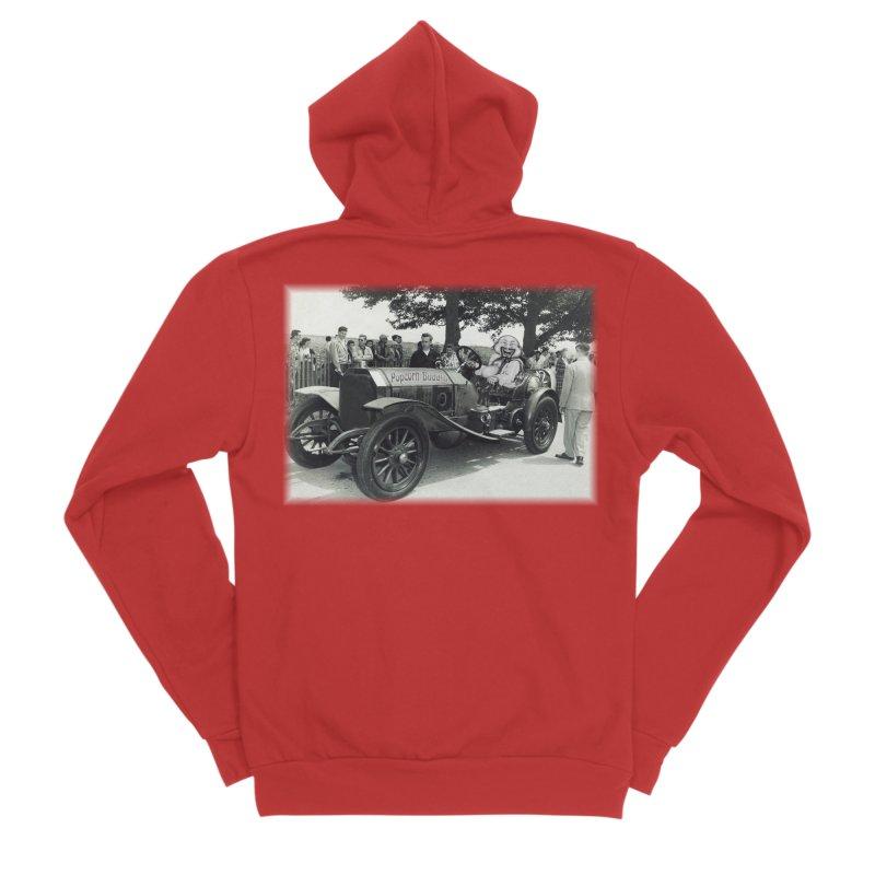 Classic Racecar Men's Zip-Up Hoody by Popcorn Buddha Merchandise