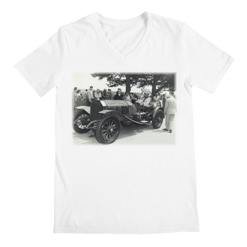 Classic Racecar Men's V-Neck by Popcorn Buddha Merchandise