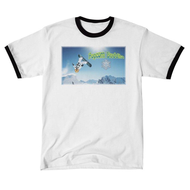 winter fun Men's T-Shirt by Popcorn Buddha Merchandise