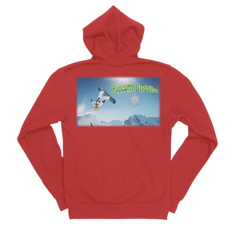 winter fun Women's Zip-Up Hoody by Popcorn Buddha Merchandise