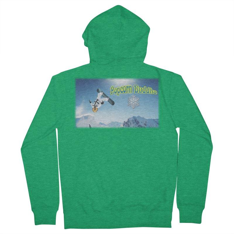 winter fun Women's Zip-Up Hoody by Popcorn Buddha Merchandise
