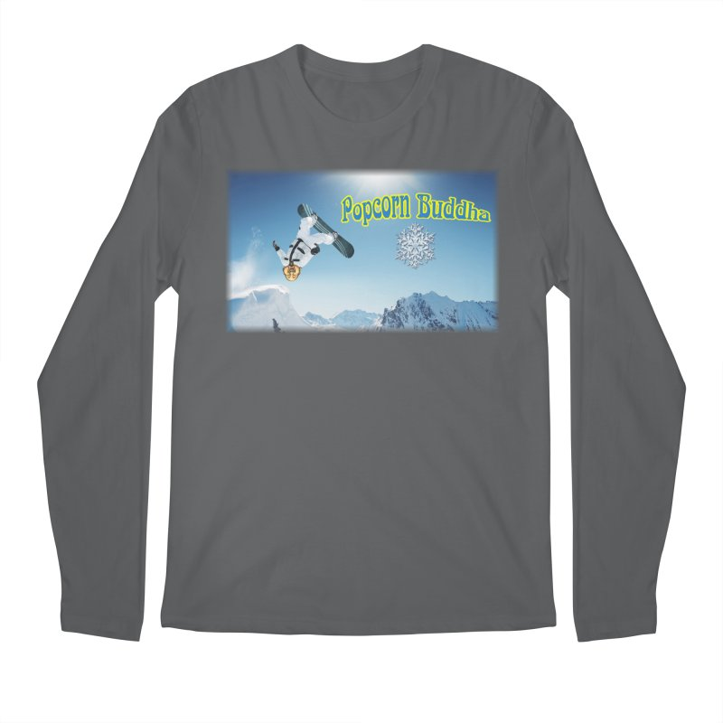 winter fun Men's Longsleeve T-Shirt by Popcorn Buddha Merchandise