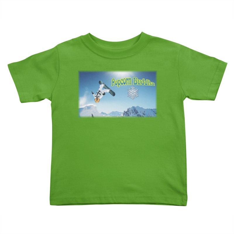 winter fun Kids Toddler T-Shirt by Popcorn Buddha Merchandise