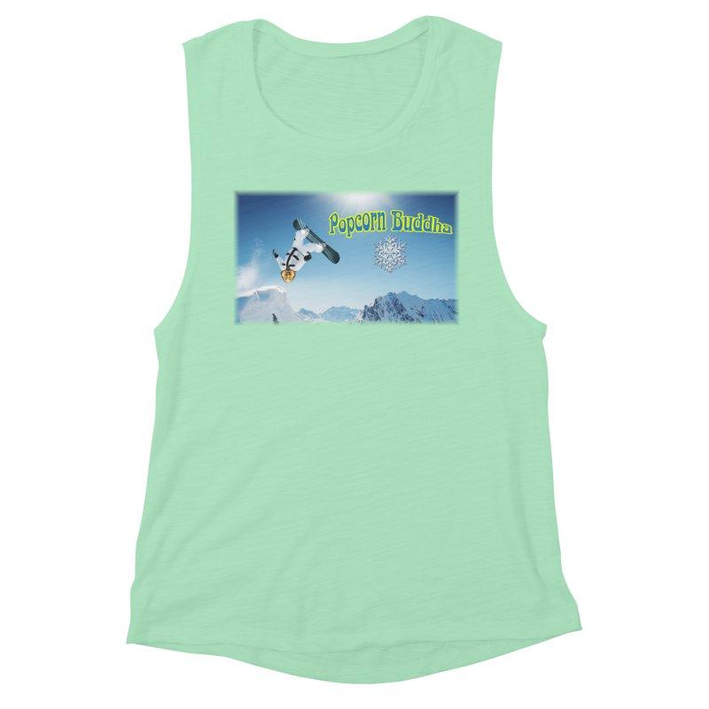 winter fun Women's Tank by Popcorn Buddha Merchandise