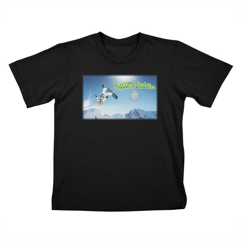 winter fun Kids T-Shirt by Popcorn Buddha Merchandise