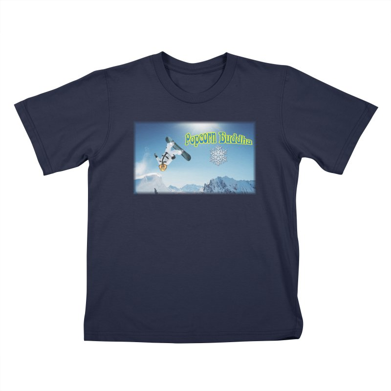 winter fun Kids T-Shirt by Popcorn Buddha Merchandise