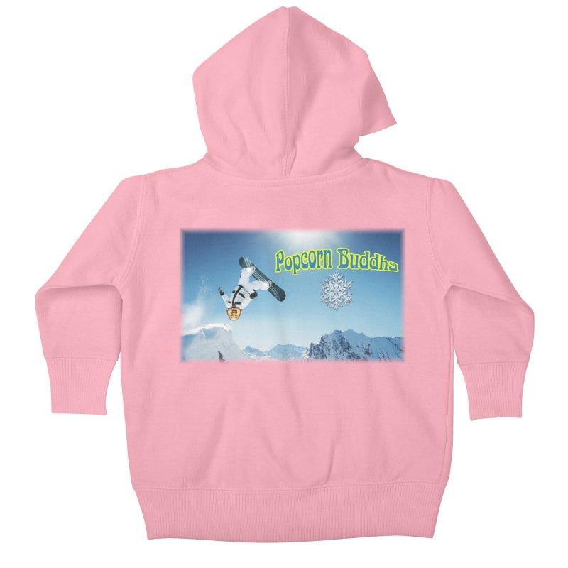 winter fun Kids Baby Zip-Up Hoody by Popcorn Buddha Merchandise
