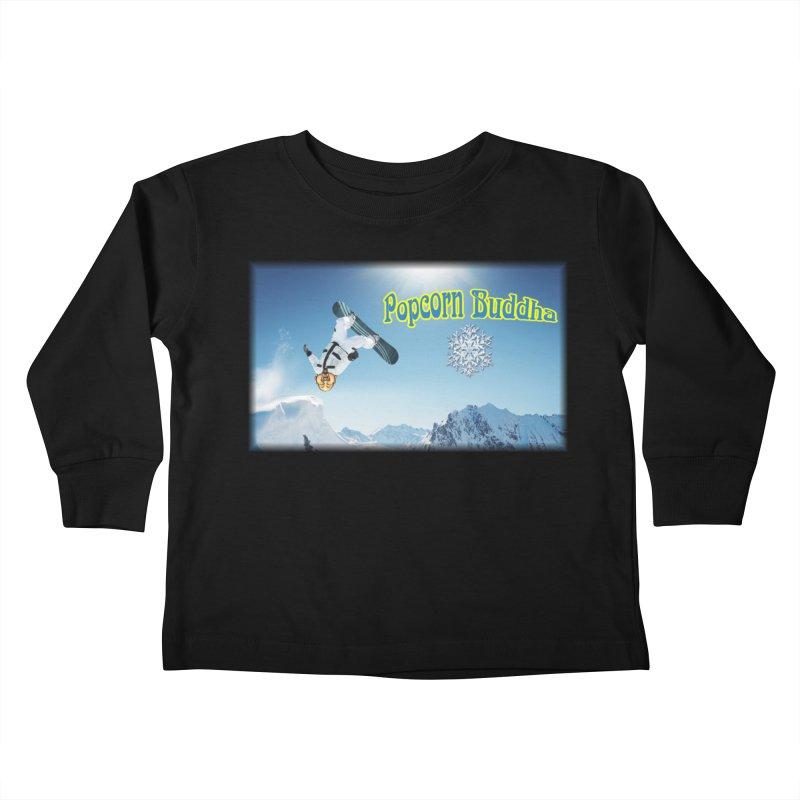 winter fun Kids Toddler Longsleeve T-Shirt by Popcorn Buddha Merchandise
