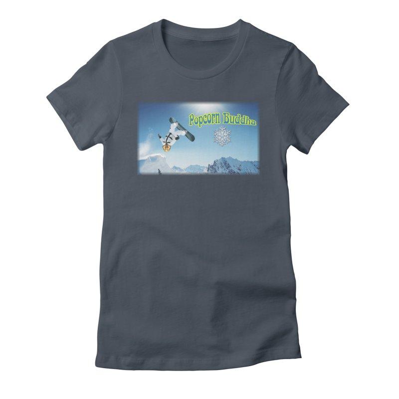 winter fun Women's T-Shirt by Popcorn Buddha Merchandise