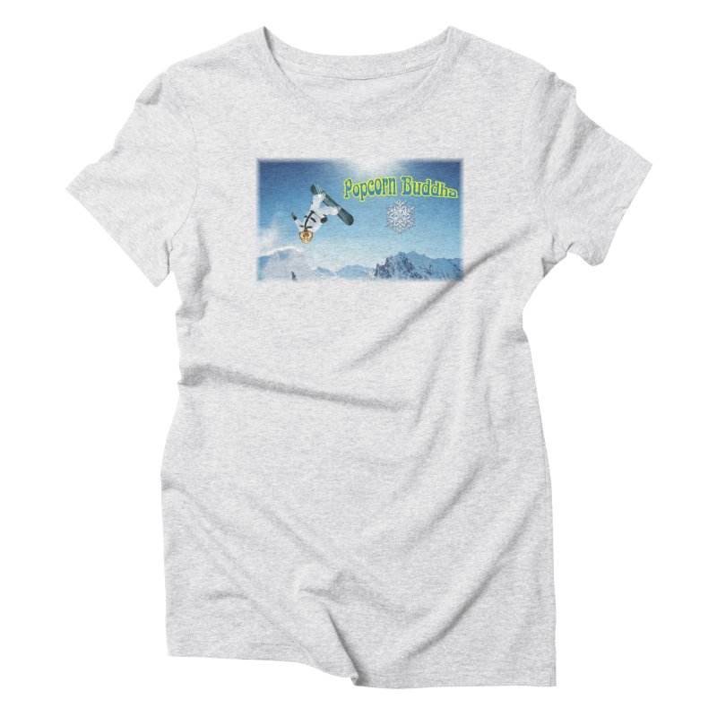 winter fun Women's T-Shirt by Popcorn Buddha Merchandise