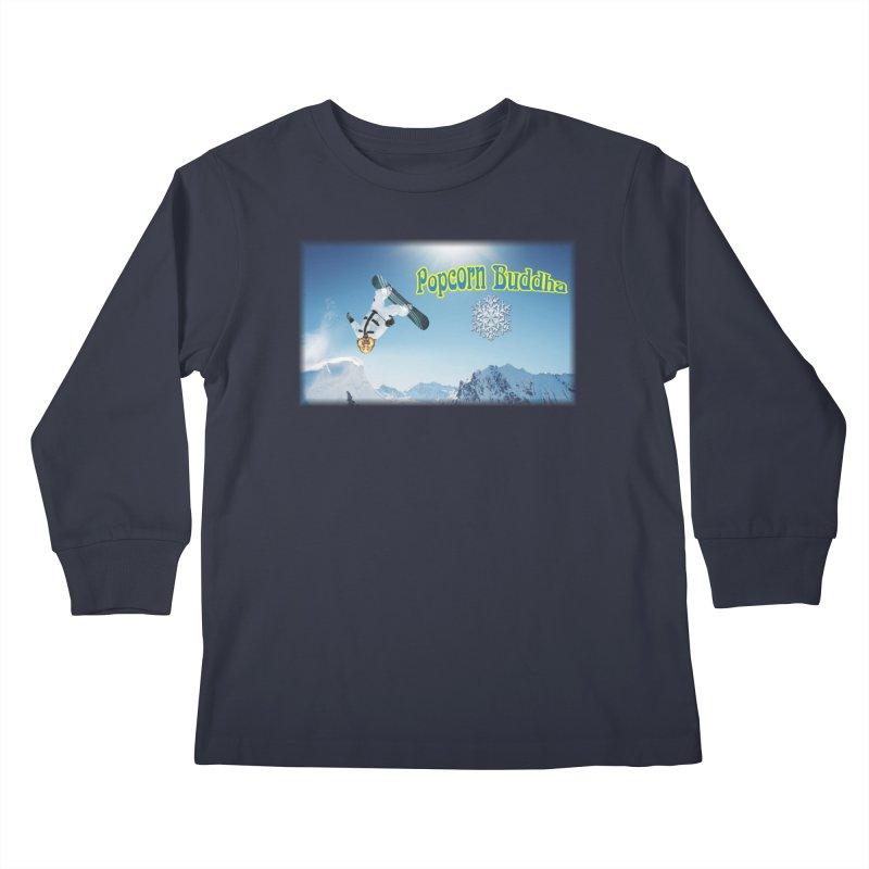 winter fun Kids Longsleeve T-Shirt by Popcorn Buddha Merchandise