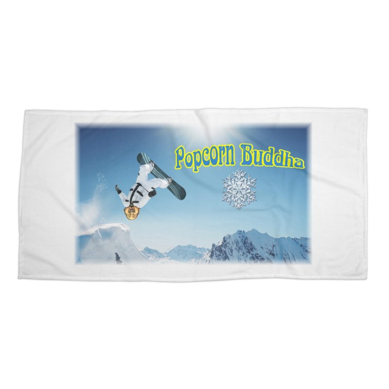 winter fun Accessories Beach Towel by Popcorn Buddha Merchandise