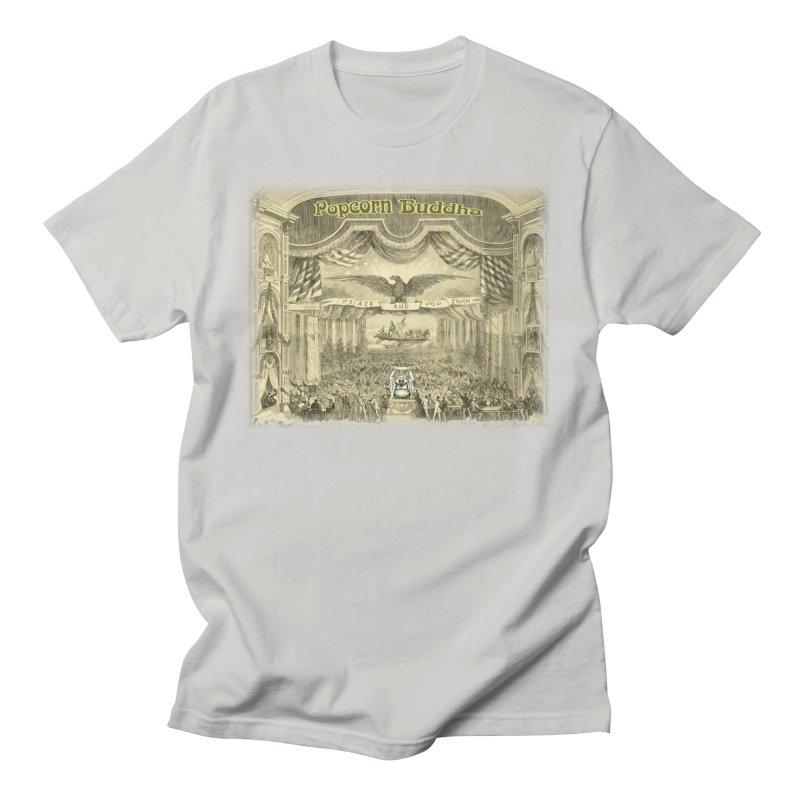 Popcorn Party History Men's T-Shirt by Popcorn Buddha Merchandise