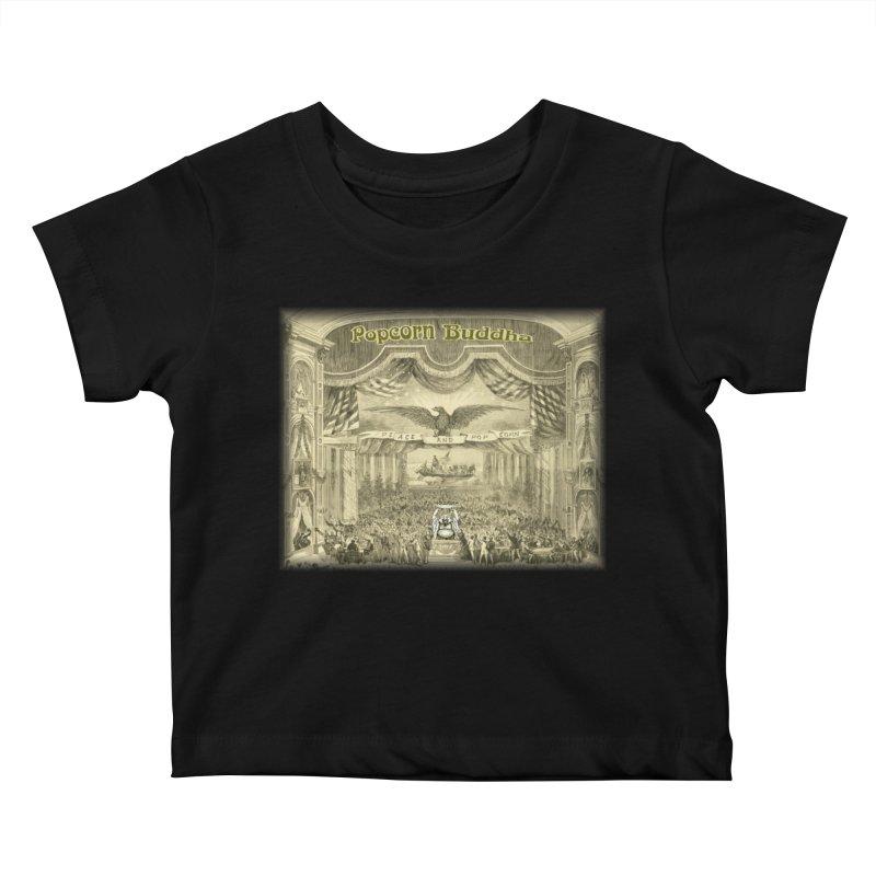 Popcorn Party History Kids Baby T-Shirt by Popcorn Buddha Merchandise