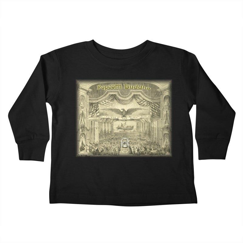Popcorn Party History Kids Toddler Longsleeve T-Shirt by Popcorn Buddha Merchandise