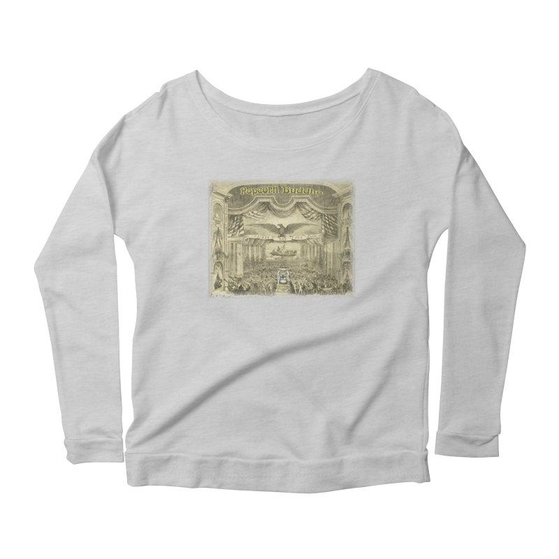 Popcorn Party History Women's Longsleeve T-Shirt by Popcorn Buddha Merchandise