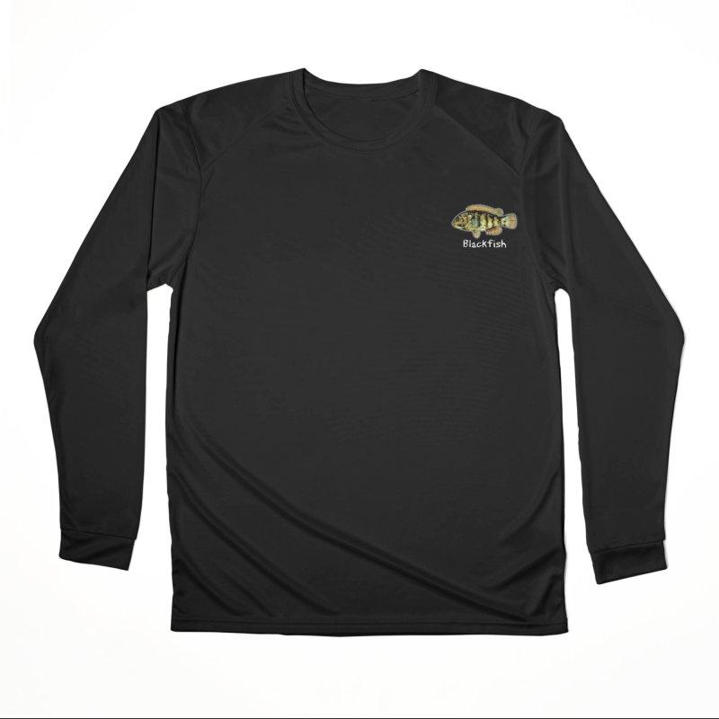 Blackfish Men's Longsleeve T-Shirt by Popcorn Buddha Merchandise