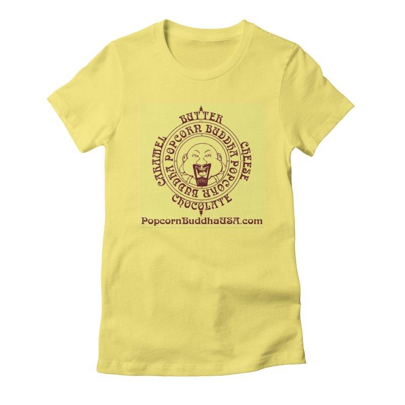 Flavor Compass Women's Fitted T-Shirt by Popcorn Buddha Merchandise
