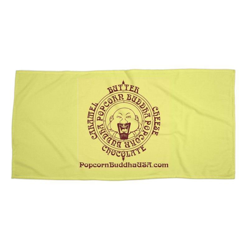 Flavor Compass Accessories Beach Towel by Popcorn Buddha Merchandise