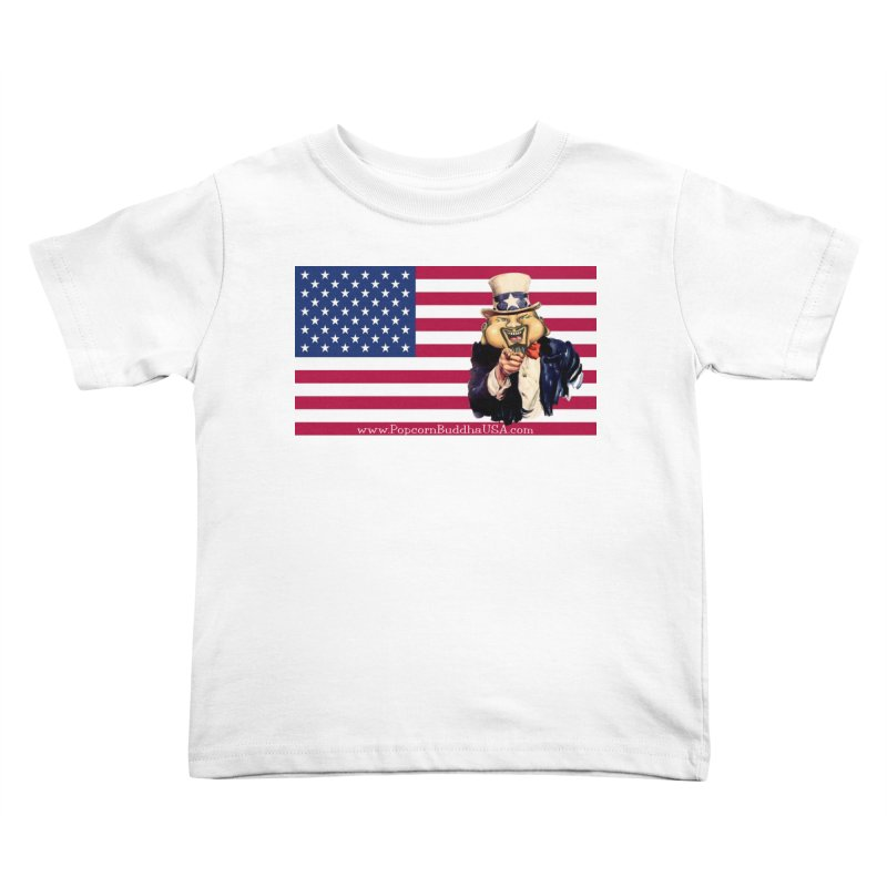 American Flag Kids Toddler T-Shirt by Popcorn Buddha Merchandise