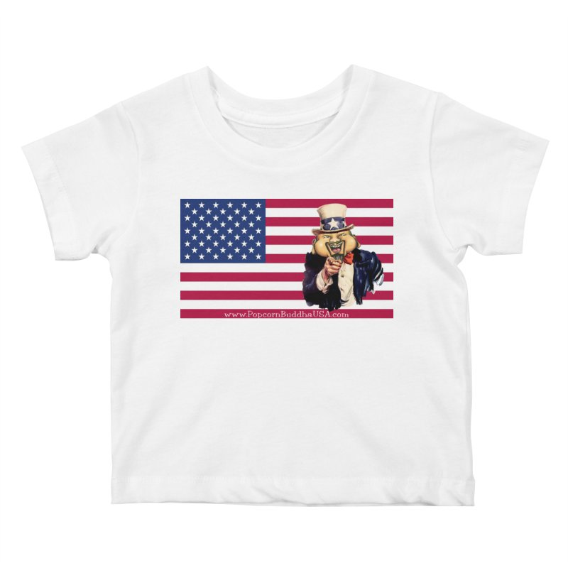 American Flag Kids Baby T-Shirt by Popcorn Buddha Merchandise