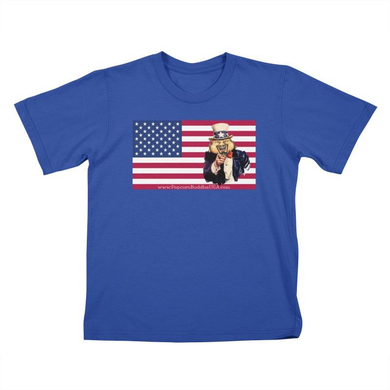 American Flag Kids T-Shirt by Popcorn Buddha Merchandise
