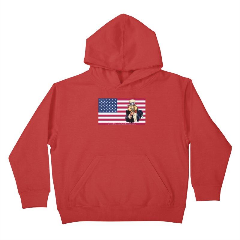 American Flag Kids Pullover Hoody by Popcorn Buddha Merchandise
