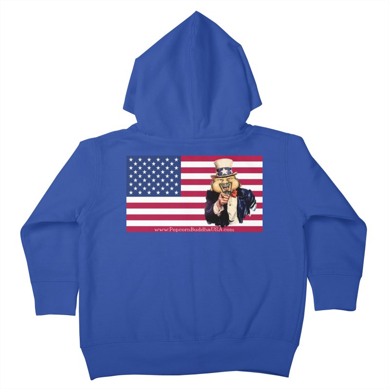 American Flag Kids Toddler Zip-Up Hoody by Popcorn Buddha Merchandise